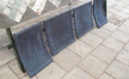 Nubuck Tuigleer Flexform stoelen B-k